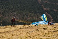 Pullover de parachutiste image libre de droits