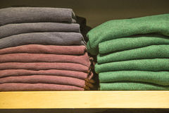 Pullover in shop shelf Stock Photography