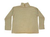 Pullower beige de las lanas del invierno Aislado Fotos de archivo libres de regalías