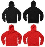 Pulls molletonnés blanc de hoodie Image stock