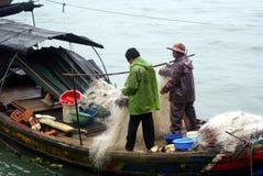 Pullution de la mer de la Chine Photographie stock