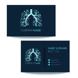 Pulmonary clinic business card Royalty Free Stock Image