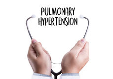 PULMONARY HYPERTENSION Medicine doctor hand working Professional Royalty Free Stock Photography