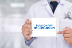PULMONARY HYPERTENSION Medicine doctor hand working Professional Royalty Free Stock Images