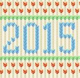 Puloweru nowego roku i bożych narodzeń karta Obraz Royalty Free