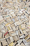 Pulp fiction. Mass of paperback books filling image Royalty Free Stock Photography