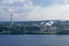 Pulp and paper mill Royalty Free Stock Photos