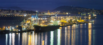 Pulp and Paper Mill at Port of Vancouver BC Royalty Free Stock Photo