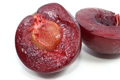 Pulp of plum Royalty Free Stock Image