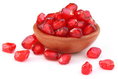 Pulp of pomegranate over white background Royalty Free Stock Photos