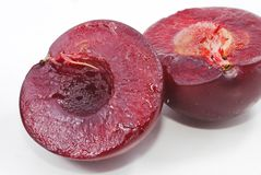Pulp of red plum Royalty Free Stock Photos