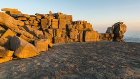 Pulpit βράχος, νησί του Πόρτλαντ, ιουρασική ακτή, Dorset, UK Στοκ εικόνα με δικαίωμα ελεύθερης χρήσης