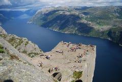 pulpit βράχος Στοκ εικόνες με δικαίωμα ελεύθερης χρήσης