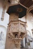 Pulpit Basilica of Santa Croce - Florence Royalty Free Stock Photography