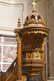 Pulpit in the Cathedral Royalty Free Stock Image