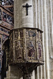 Pulpit in the cathedral of Baeza, Spain Stock Images