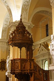 Pulpit of the cathedral at the Main plaza, Arequipa, Peru Royalty Free Stock Photos