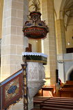 Pulpit of the church of the medieval fortified church Biertan, Transylvania Royalty Free Stock Photos