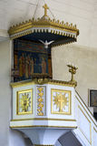 Pulpit in Geta Church. Royalty Free Stock Photos