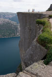 The Pulpit, Norway. A national landmark overlooking the fjord Lysefjorden royalty free stock photo