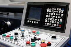 Pulpit operatora CNC Szlifierska maszyna obraz royalty free