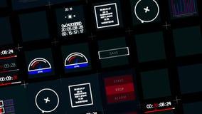 Pulpit operatora i graficzny interfejs użytkownika Komputerowa inżynieria zbiory wideo