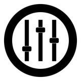 Pulpit operatora ikony czerni kolor w okręgu Zdjęcia Royalty Free