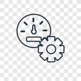 Pulpit operatora pojęcia wektorowa liniowa ikona odizolowywająca na przejrzystym royalty ilustracja