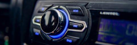 Pulpit operatora samochodu powietrza conditioner deski rozdzielczej, konsoli technologia w nowożytnym samochodzie/ fotografia royalty free