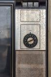 Pulpit operatora starego klasycznego koloru analogowa telewizja Fotografia Royalty Free