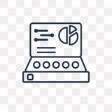 Pulpit operatora wektorowa ikona odizolowywająca na przejrzystym tle, li ilustracji