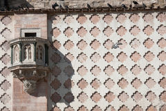 Pulpit of Perugia Cathedral - facade detail Stock Photos