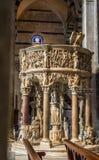Pulpit of Primaziale di Santa Maria Assunta cathedral. Pisa, Ita Royalty Free Stock Photography