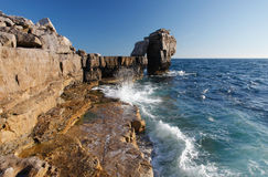Pulpit rock in azure skies Royalty Free Stock Image