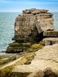 Pulpit Rock. Located at Portland Bill in Dorset, on the South Coast of the UK Stock Photography
