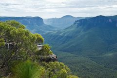 Free Pulpit Rock Lookout In Blue Mountains Royalty Free Stock Photos - 121714078