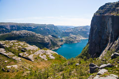 Pulpit Rock with Lysefjord, Norway Stock Photo