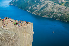Pulpit Rock in Norway Royalty Free Stock Photos