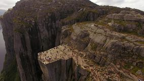 Aerial view of the Pulpit Rock stock footage