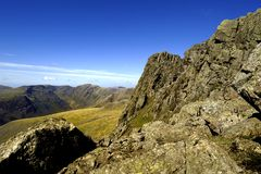 Pulpit Rock. Of Scafell Pike Royalty Free Stock Photo