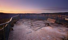 Pulpit Rock south views Blue Mountains Australia Stock Images
