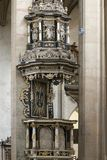 Pulpit in Saint Barbara Church Stock Photography