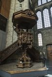 Pulpit of the Saint Nicholas Church in Ghent, Belgium Stock Images