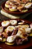 Pulpo ένα Λα gallega, μια ισπανική συνταγή του χταποδιού Στοκ φωτογραφίες με δικαίωμα ελεύθερης χρήσης