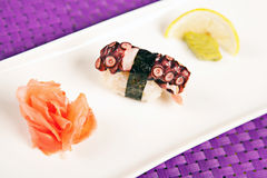 Pulpo del sushi Fotografía de archivo