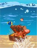 Pulpo en el mar Foto de archivo libre de regalías