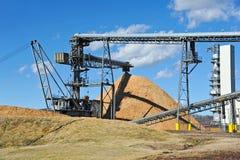 Pulpwood Processing Plant Stock Photo
