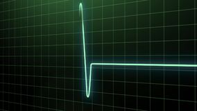 Puls bicie serca w zielonym kolorze royalty ilustracja