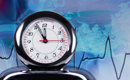 Puls clock Royalty Free Stock Image
