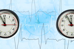 Puls clock Royalty Free Stock Photography